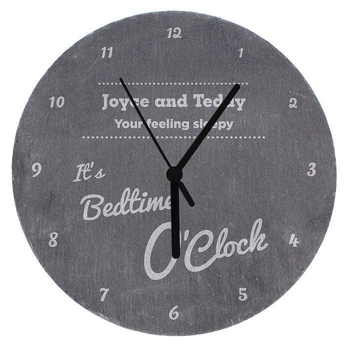 Personalised O'Clock Slate Clock - Personalised Gift Solutions - 4