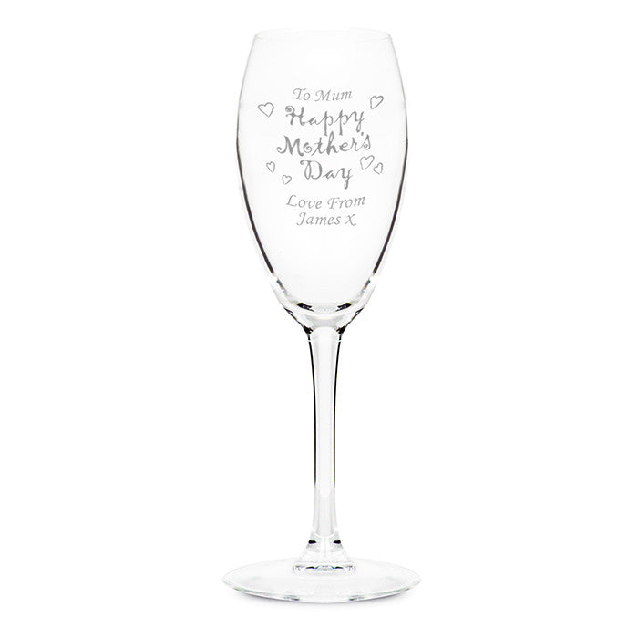 Personalised Happy Mother's Day Flute - Personalised Gift Solutions - 1