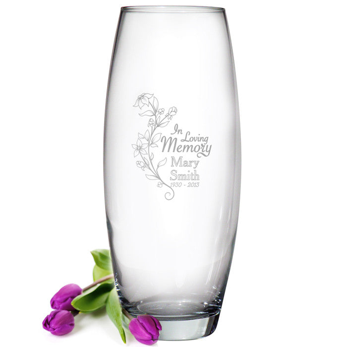 Personalised In Loving Memory Bullet Vase - Personalised Gift Solutions - 1
