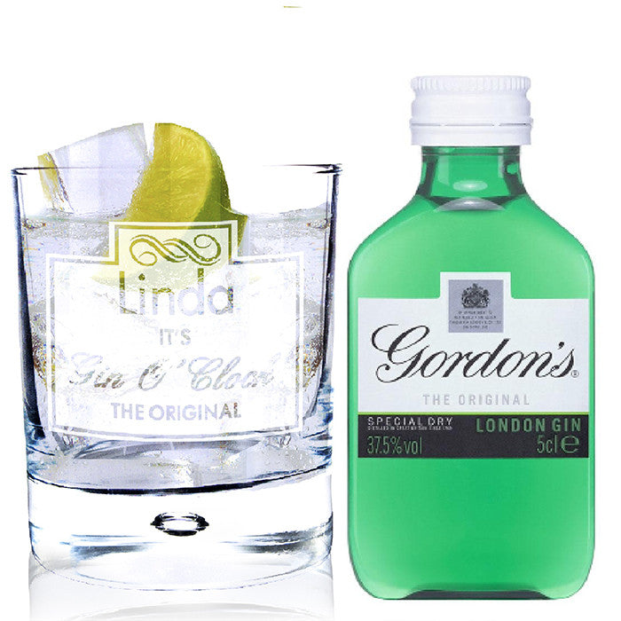 Personalised Gin O'Clock Miniature Gift Set - Personalised Gift Solutions - 2