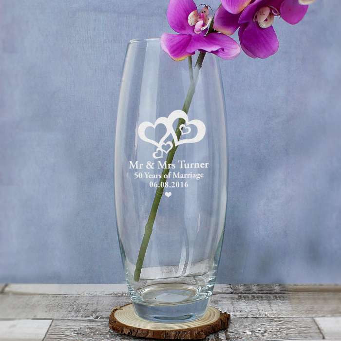 Personalised Love Hearts Bullet Vase - Personalised Gift Solutions - 3