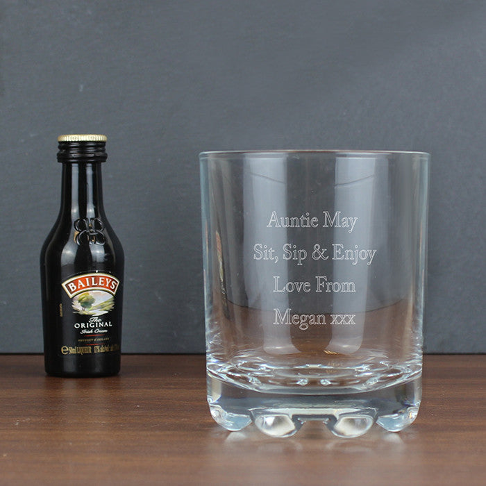 Personalised Baileys Glass & Miniature Set - Personalised Gift Solutions - 2