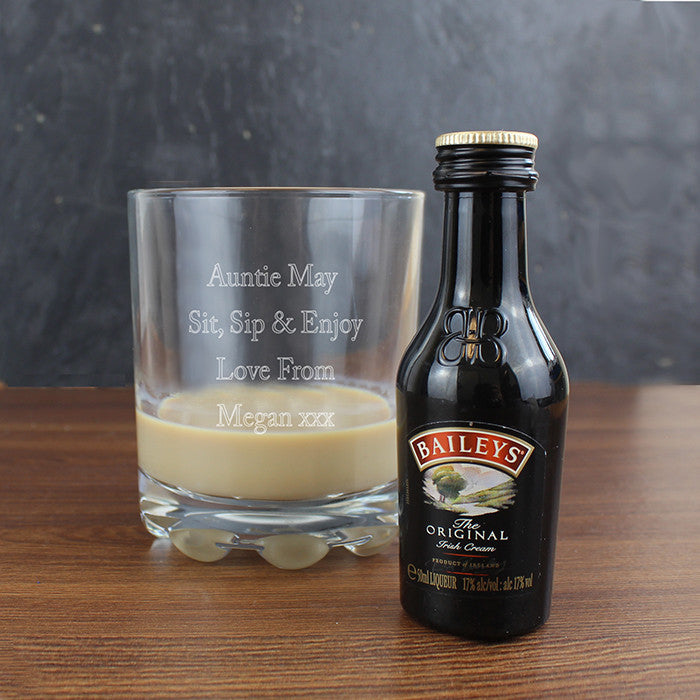 Personalised Baileys Glass & Miniature Set - Personalised Gift Solutions - 3
