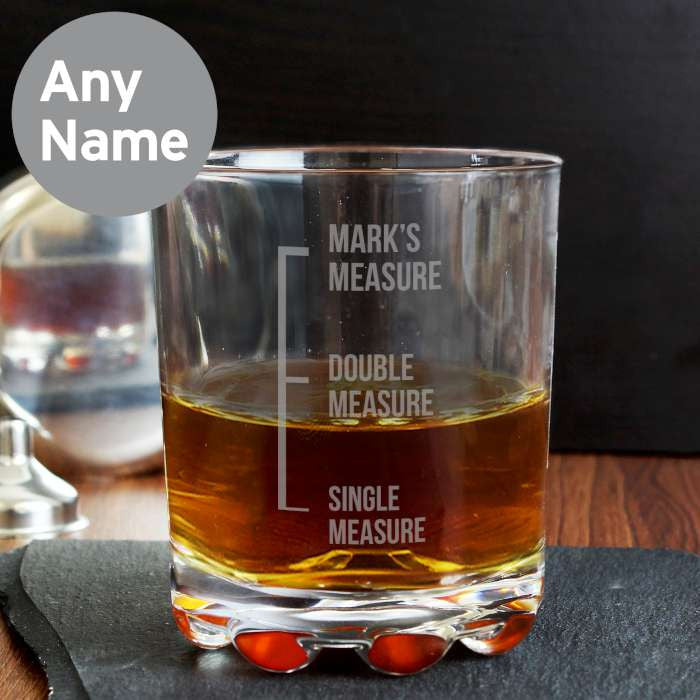 Glass Tumbler - Personalised Measures