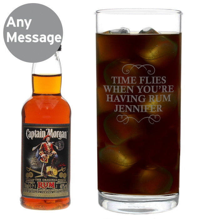 Personalised Captain Morgan Rum Glass & Miniature Set - Personalised Gift Solutions - 4