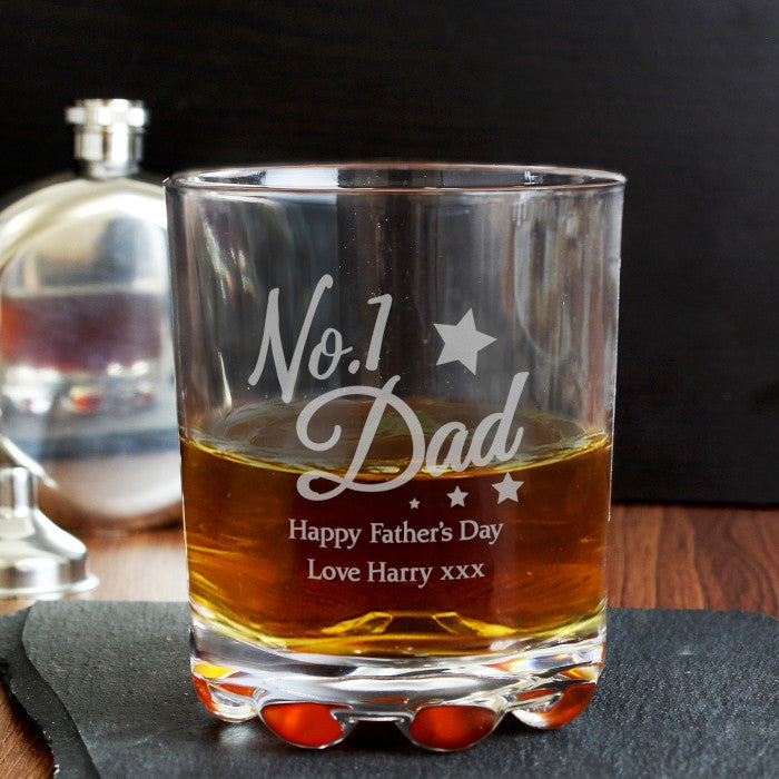 Glass Tumbler - Personalised No.1 Dad