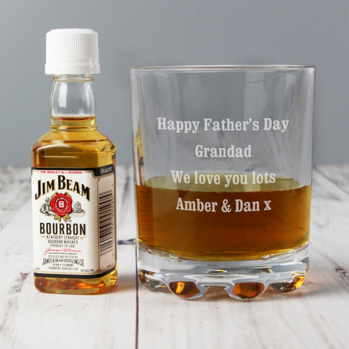 Personalised Jim Beam & Glass Gift Set