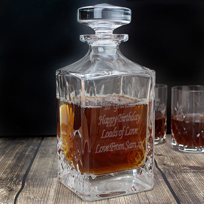 Personalised Cut Crystal Decanter - Personalised Gift Solutions - 1