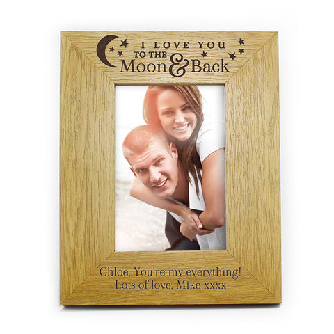 Personalised 'To the Moon and Back' Photo Frame (6x4)