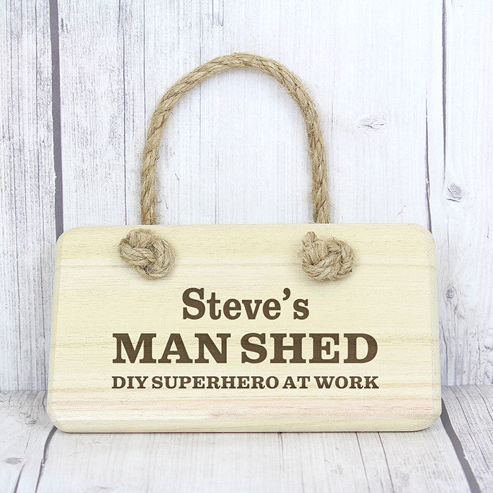 Personalised Man Shed Wooden Sign - Personalised Gift Solutions - 2