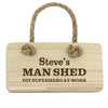 Personalised Man Shed Wooden Sign - Personalised Gift Solutions - 1