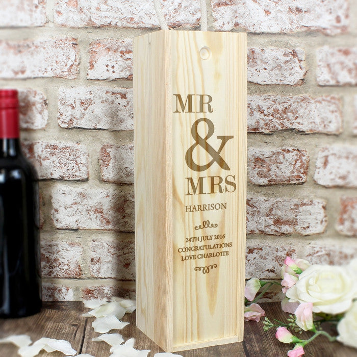 Personalised Couples Bottle Presentation Box