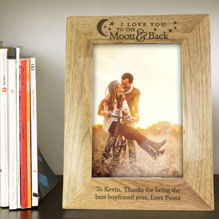 Personalised 'To the Moon and Back' Photo Frame (7x5)