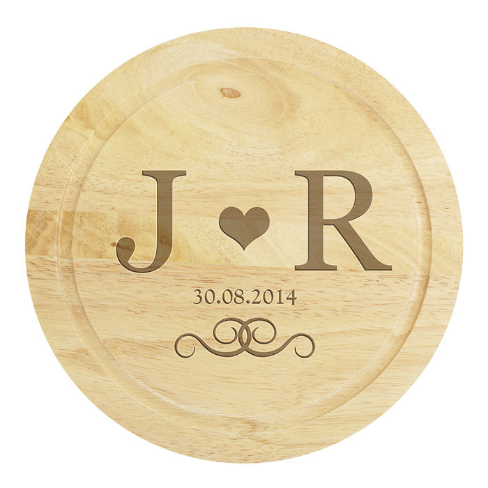 Personalised Monogram Large Cheese Board with Cheese Knives - Personalised Gift Solutions - 2