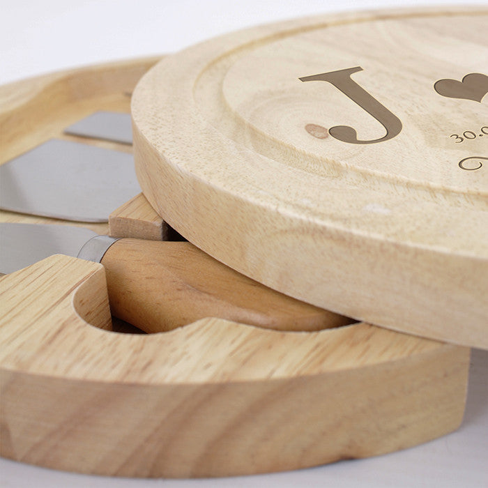 Personalised Monogram Large Cheese Board with Cheese Knives - Personalised Gift Solutions - 3