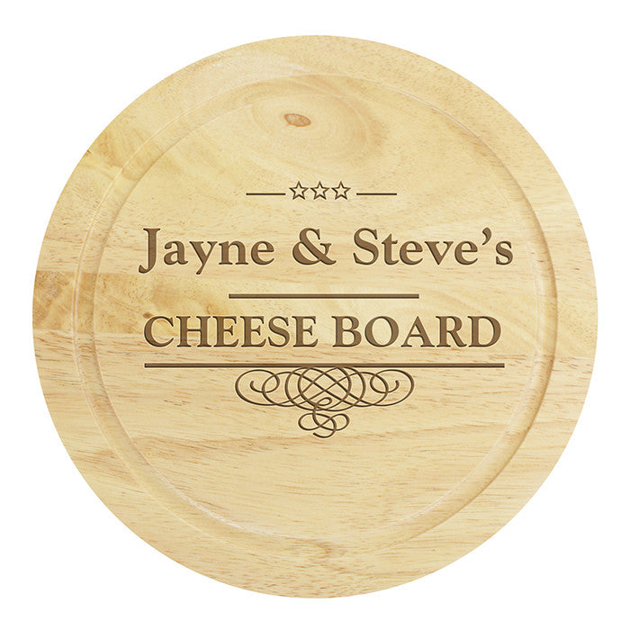 Personalised Large Cheese Board with Cheese Knives - Personalised Gift Solutions - 2