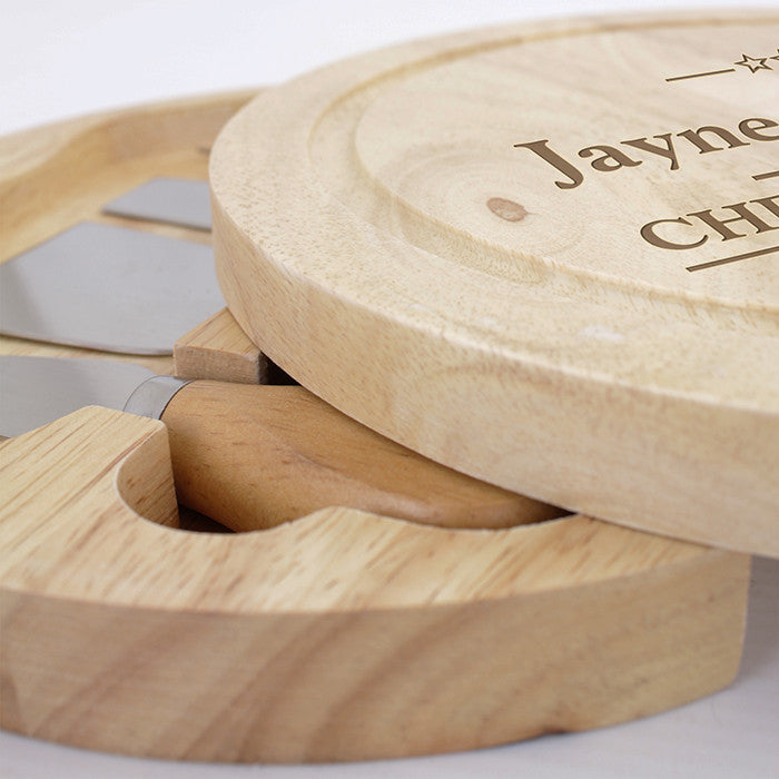 Personalised Large Cheese Board with Cheese Knives - Personalised Gift Solutions - 3
