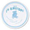 Personalised Teddy Blue 1st Birthday China Plate - Personalised Gift Solutions - 1