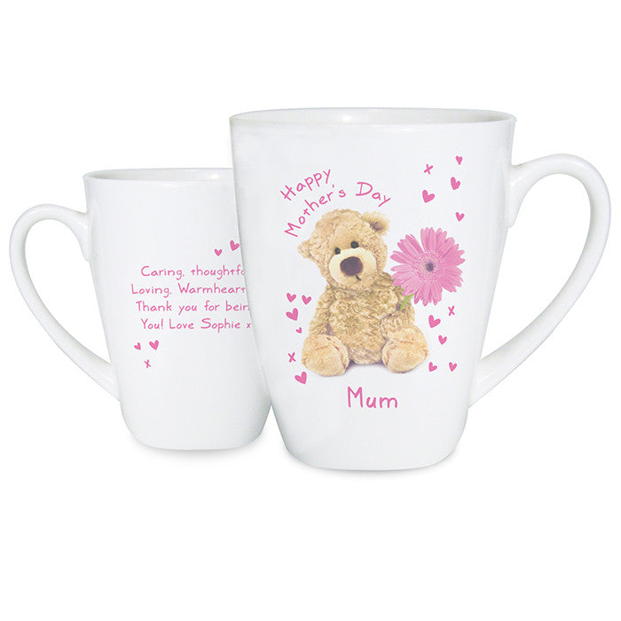 Personalised Teddy Flower Latte Mug - Personalised Gift Solutions - 1