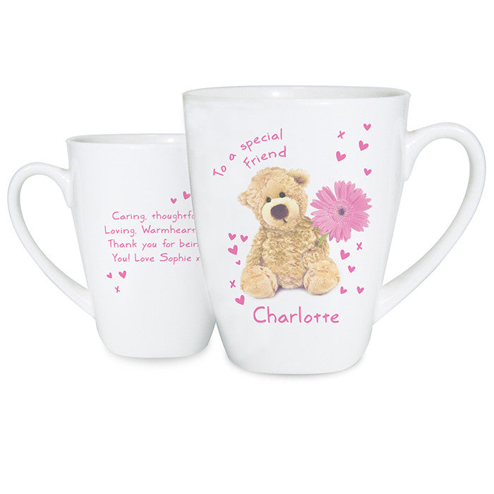 Personalised Teddy Flower Latte Mug - Personalised Gift Solutions - 2