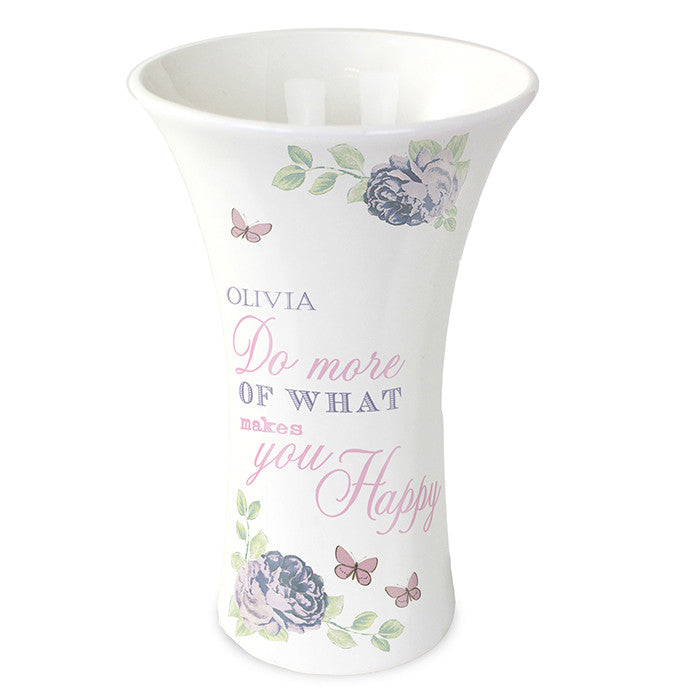 Personalised Secret Garden Ceramic Waisted Vase - Personalised Gift Solutions - 1