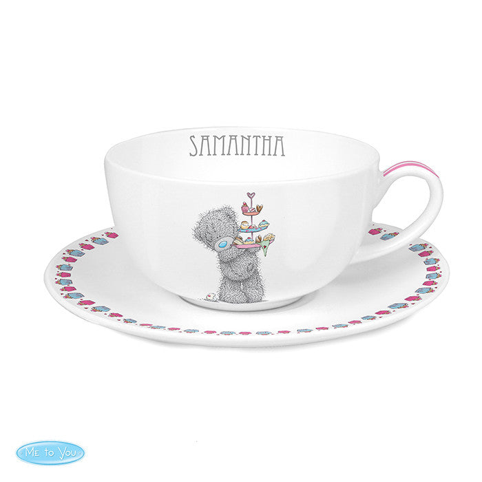 Personalised 'Me To You' Cupcake Teacup & Saucer - Personalised Gift Solutions - 1