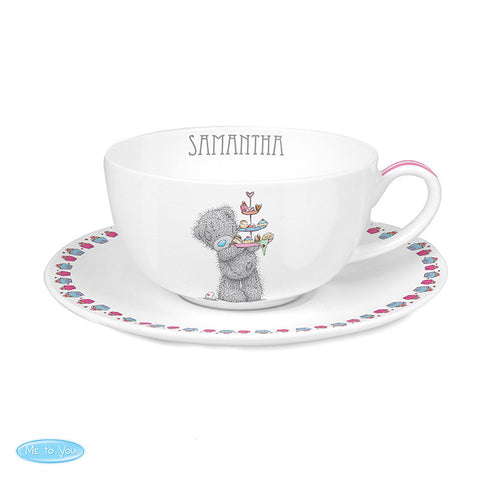 Personalised 'Me To You' Cupcake Teacup & Saucer