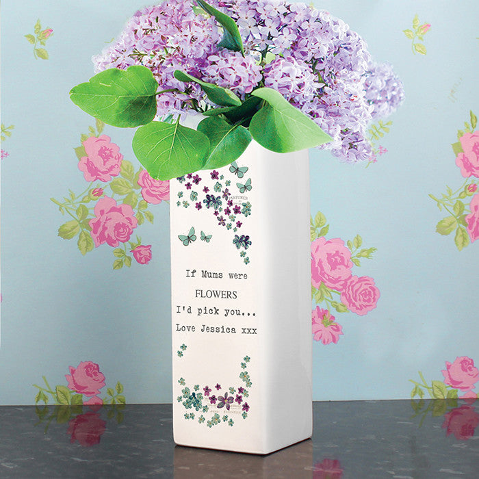 Personalised Forget Me Not Square Vase - Personalised Gift Solutions - 3