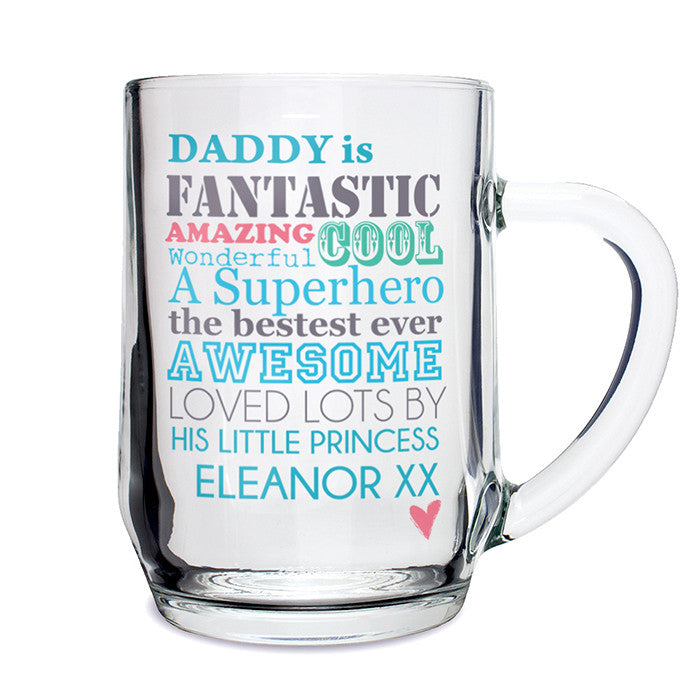 Personalised He is... Glass Tankard - Personalised Gift Solutions - 2
