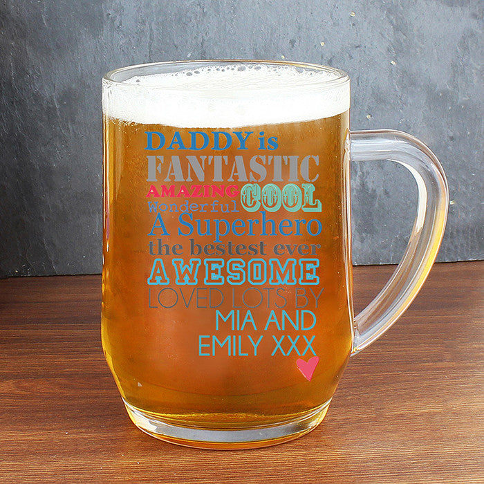Personalised He is... Glass Tankard - Personalised Gift Solutions - 1