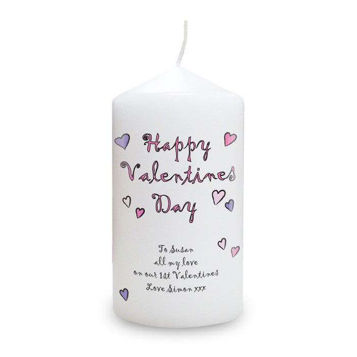 Personalised Happy Valentines Day Candle - Personalised Gift Solutions - 1