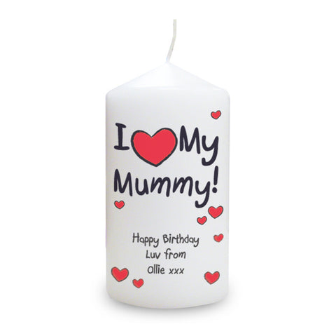 Personalised 'I Heart My' Mother's Day Candle