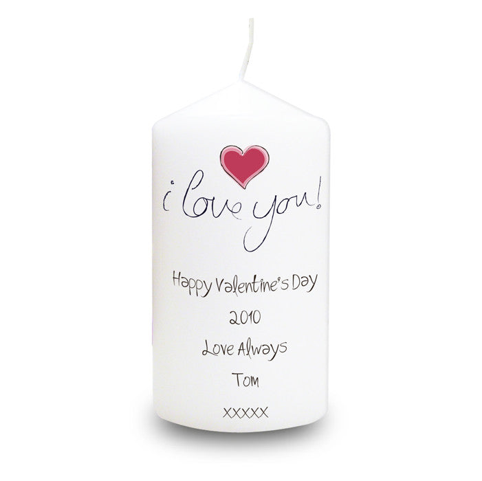 Personalised 'I Love You' Candle - Personalised Gift Solutions - 1