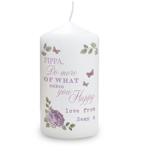 Personalised Secret Garden Candle