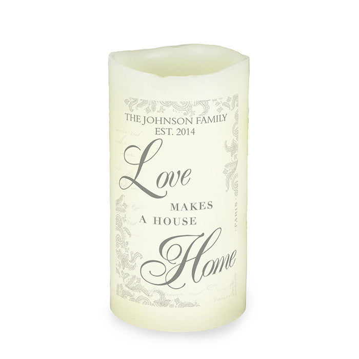 Personalised Love Makes a Home LED Candle - Personalised Gift Solutions - 1