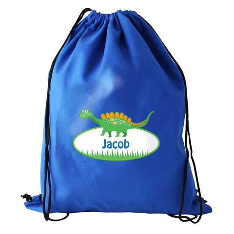 Personalised Dinosaur Boys Kit Bag