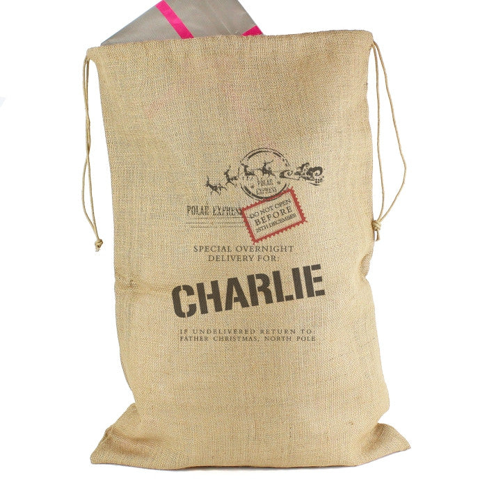Personalised Christmas Sack - Hessian - Special Delivery - Personalised Gift Solutions - 4