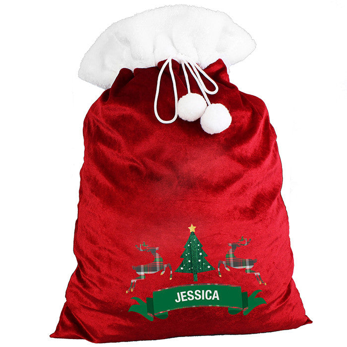 Personalised Christmas Sack - Plush - Nordic Christmas - Personalised Gift Solutions - 3