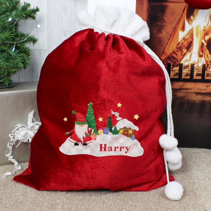 Personalised Luxury Christmas Sack - Winter Wonderland