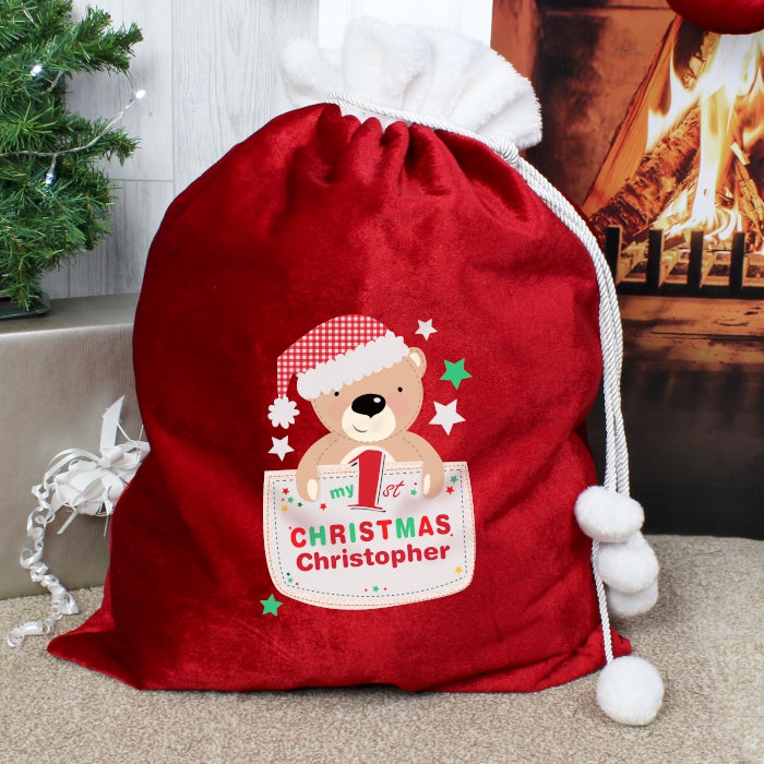 Personalised Luxury Christmas Sack - My 1st Christmas