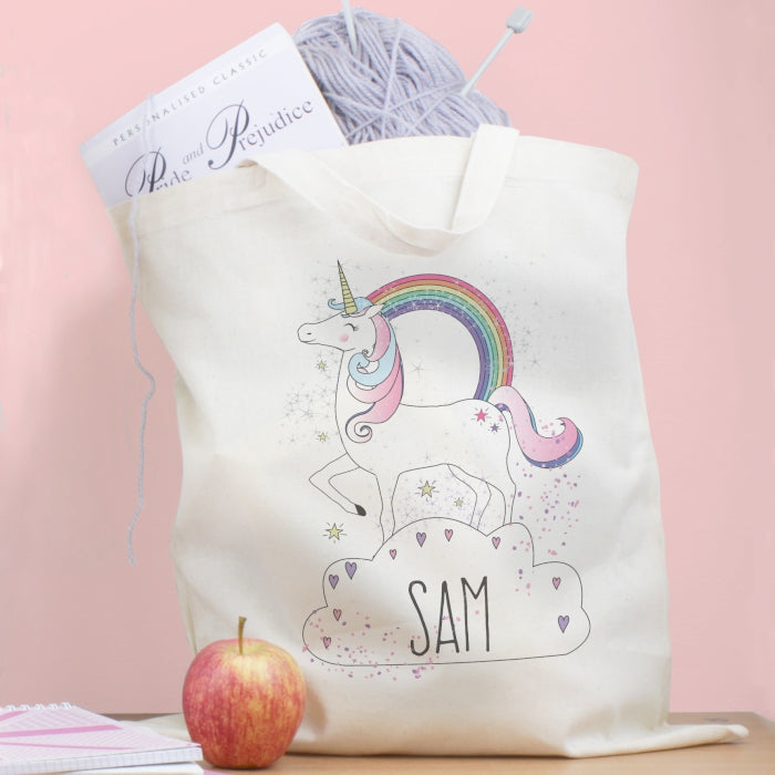 Personalised Unicorn Cotton Tote Bag