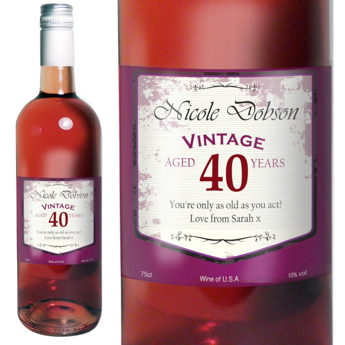 Personalised Rose Wine For Birthdays - Personalised Gift Solutions - 1