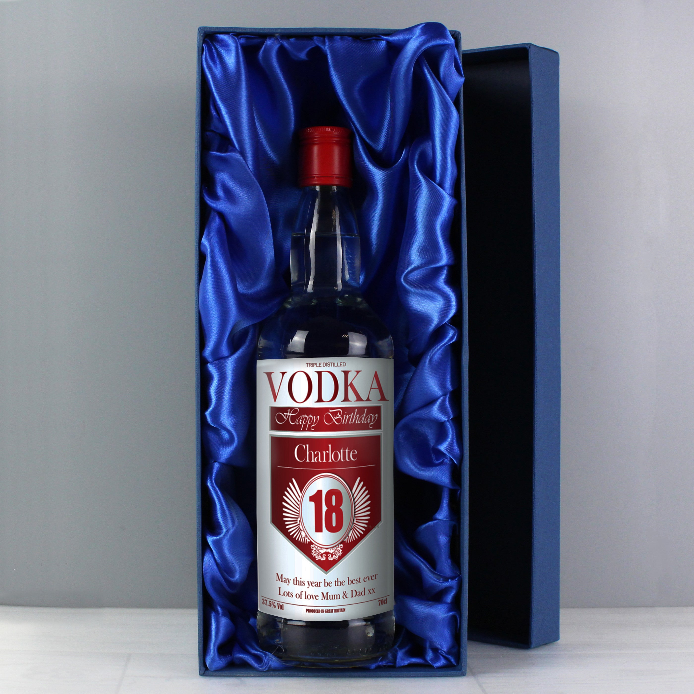 Personalised Vodka For Birthdays