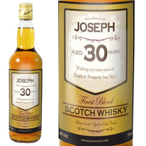 Personalised Scotch Whisky For Birthdays