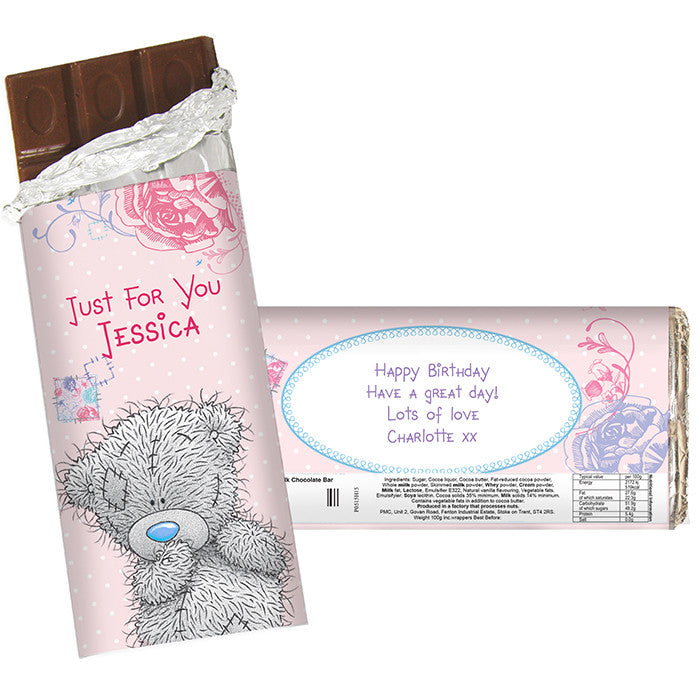 Personalised 'Me To You' Girls Chocolate Bar - Personalised Gift Solutions - 1