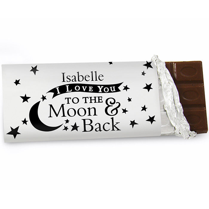 Personalised 'To the Moon and Back' Chocolate Bar - Personalised Gift Solutions - 1