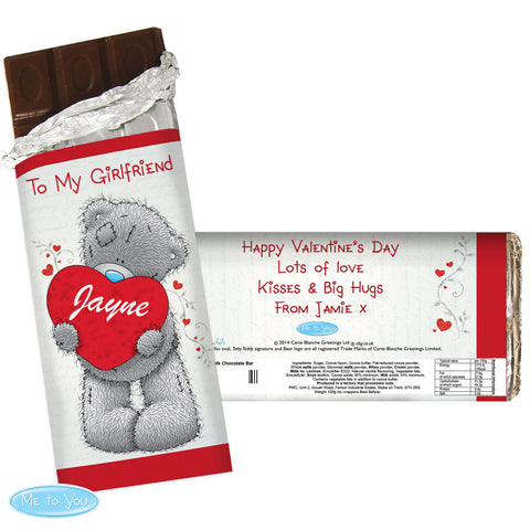 Personalised 'Me To You' Chocolate Bar