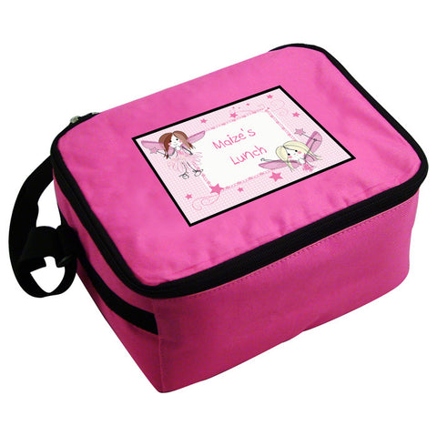 Personalised Girls Pink Fairy Lunch Bag