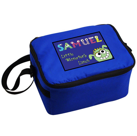 Personalised Little Monster Boys Lunch Bag