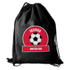 Personalised Red Football Fan Boys Kit Bag - Personalised Gift Solutions - 1